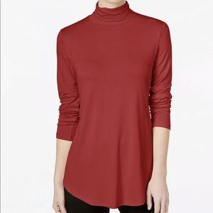 JM Collection Long Sleeve Red Top